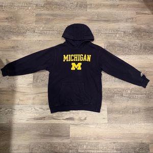 adidas navy and yellow Michigan hoodie sweater